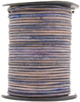 Natural Antique Purple Round Leather Cord 1.5mm 10 Feet