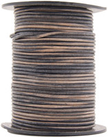 Natural Antique Gray Round Leather Cord 1.5mm 10 meters
