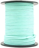 Aqua Round Leather Cord 1mm 100 meters