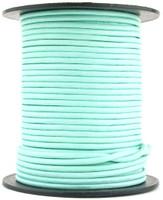 Aqua Round Leather Cord 2mm 10 Feet
