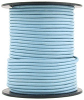 Sky Blue Round Leather Cord 1.5mm 50 meters
