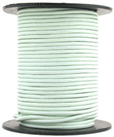 Hint of Mint Round Leather Cord 2mm 50 meters