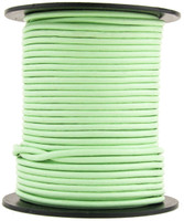 Mint Round Leather Cord 2mm 100 meters