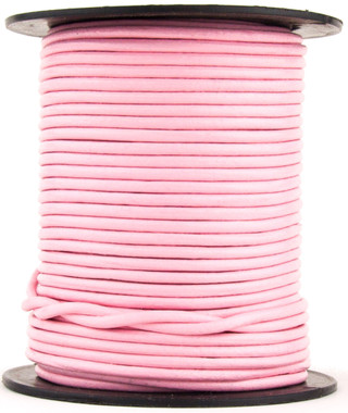 Baby Pink Round Leather Cord 1.5mm 10 Feet