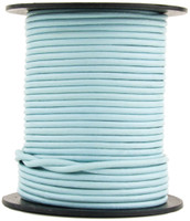 Baby Blue Round Leather Cord 2mm 100 meters