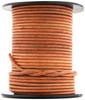Tan Natural Dye Round Leather Cord 1.5mm 10 Feet