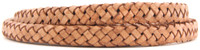 Tan Natural Dye Flat Braided Bracelet Leather Cord 10 mm
