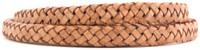 Tan Natural Dye Flat Braided Bracelet Leather Cord 8 mm