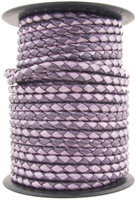 Purple Twilight Round Bolo Braided Leather Cord 3 mm 1 Yard