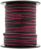 Artistic Pink Round Leather Cord 2.0mm 25 meters