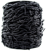 Black Barbed Wire Leather Cord-1 Meter
