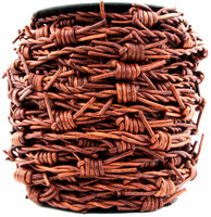 Distressed Brown Barbed Wire Leather Cord-1 Meter