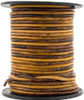 Sunset Brown Round Leather Cord 1.5mm 10 Feet