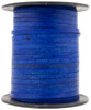 Royal Blue Natural Flat Leather Cord 3mm 1 Yard