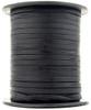 Black Natural Flat Leather Cord 3mm 1 Yard