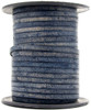 Midnight Blue Flat Leather Cord 3mm 1 Yard