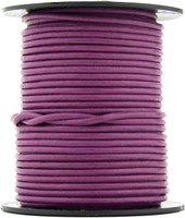 Magenta Round Leather Cord 1.0mm 25 meters