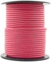 Pink Round Leather Cord 1.5mm 10 Feet