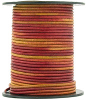Gypsy Irasa Natural Dye Round Leather Cord 2.0mm 100 meters