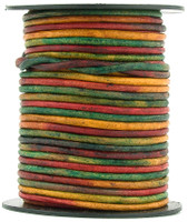 Kinte Gypsy Natural Dye Round Leather Cord 1.0mm 10 meters (11 yards)