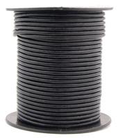 Black Round Leather Cord 2.0mm 10 Feet