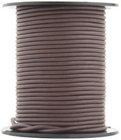 Brown Natural Dye Round Leather Cord 1.0mm 25 meters