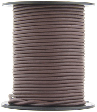 Brown Natural Dye Round Leather Cord 1.5mm 10 meters (11 yards)