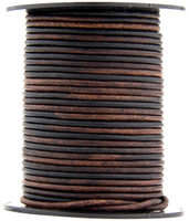 Gypsy Sippa Natural Dye Round Leather Cord 1.0mm 25 meters