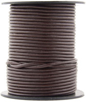 Brown Dark Round Leather Cord 1.0mm 100 meters