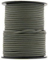 Gray Natural Dye Round Leather Cord 1.5mm 10 Feet