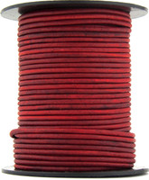 Hot Pink Natural Dye Round Leather Cord 1.5mm 10 meters
