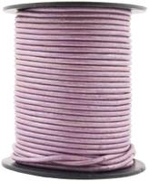 Lilac Metallic Round Leather Cord 2.0mm 10 Feet