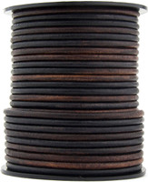 Gypsy Sippa Natural Dye Round Leather Cord 3.0mm 10 Feet