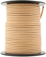 Beige Round Leather Cord 1.0mm 10 Feet