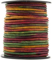 Kinte Gypsy Natural Dye Round Leather Cord 3mm 10 meters