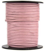 Mauve Round Leather Cord 2.0mm 25 meters