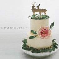 Rustic woodland themed wedding cake