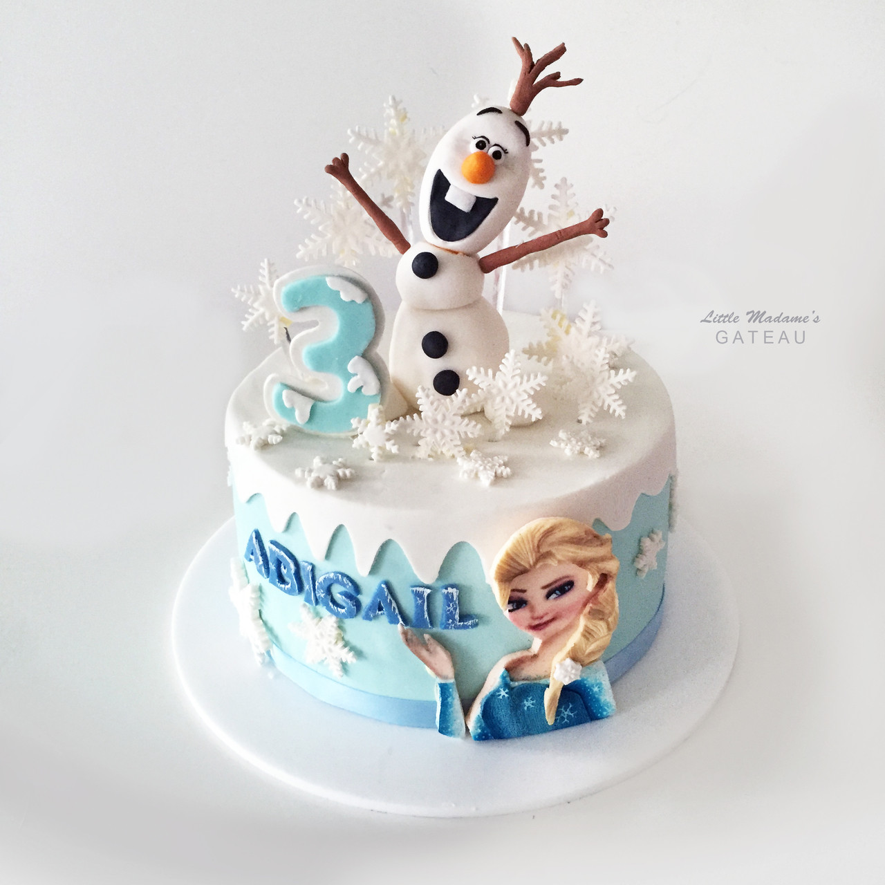 Tremendous Olaf With Elsa Frozen Birthday Cake Funny Birthday Cards Online Overcheapnameinfo