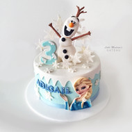 Olaf with Elsa Frozen Birthday Cake