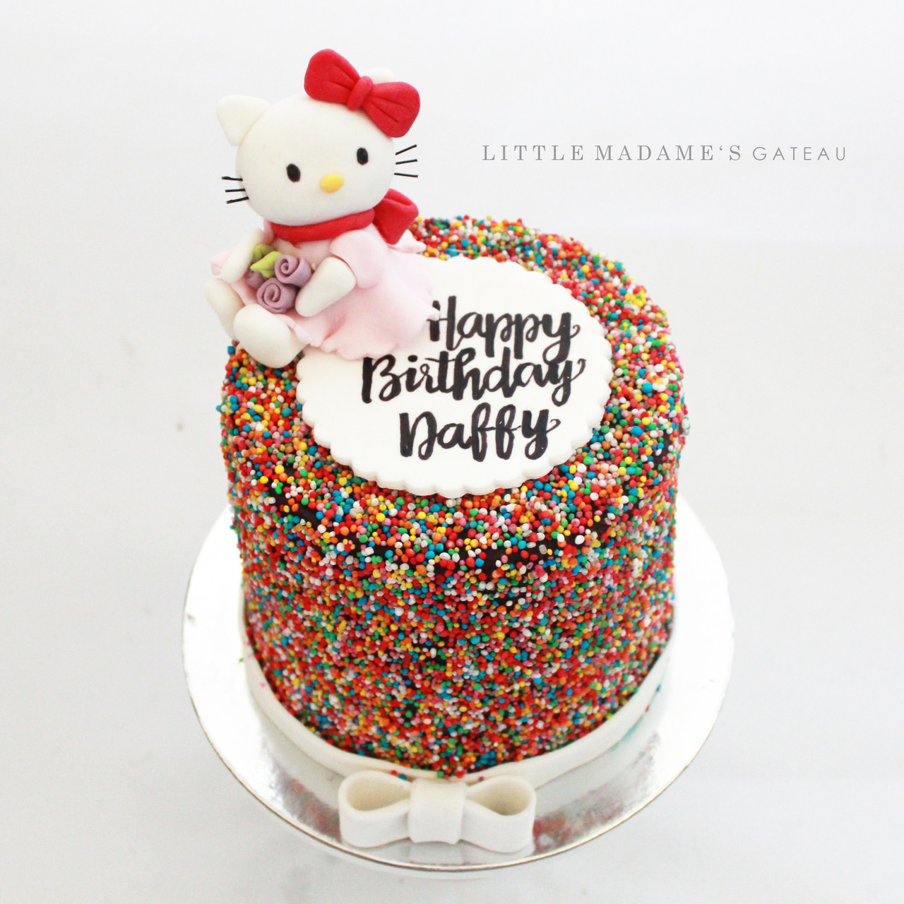 Miraculous Hello Kitty Birthday Cake Personalised Birthday Cards Beptaeletsinfo