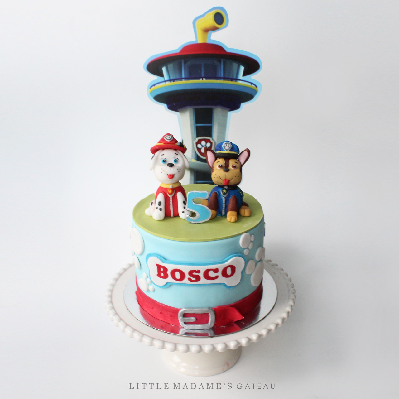 marshall and chase paw patrol cake