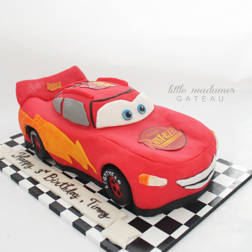 car 3d carved birthday cake