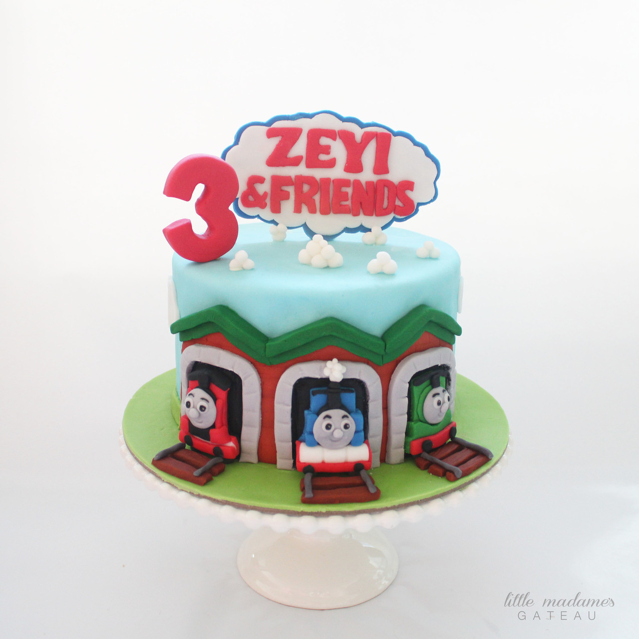 Admirable Thomas Train Kids Birthday Cake Funny Birthday Cards Online Overcheapnameinfo