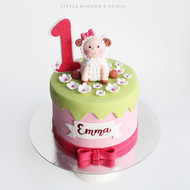 sheep design kids birthday cake