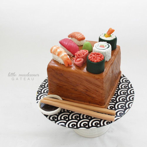 custom food themed cake