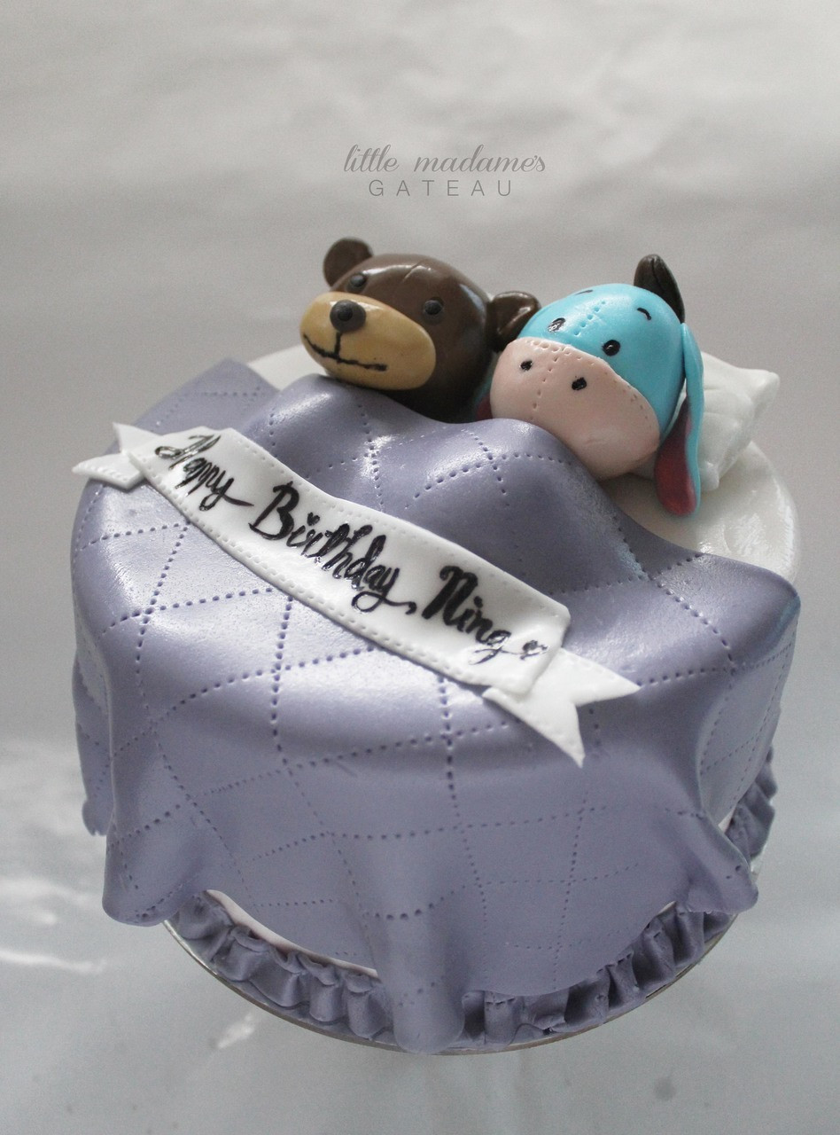 Swell Eeyore On Bed Cake Funny Birthday Cards Online Inifofree Goldxyz