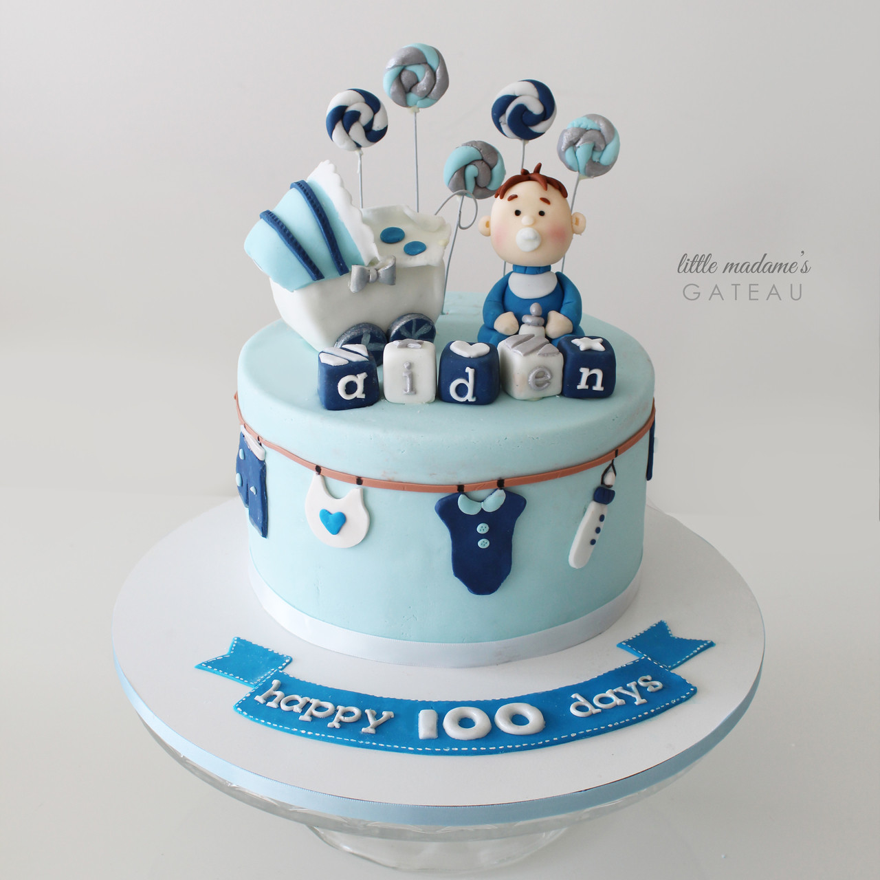 Astonishing Baby And Prams 100 Days Celebration Cake Funny Birthday Cards Online Aboleapandamsfinfo