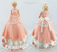barbie princess dress cake