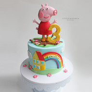 peppa pig in muddy puddle cake