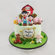 farm animals little farmers cake